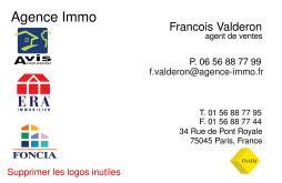 Cartes De Visite Agence Immobiliere 1621
