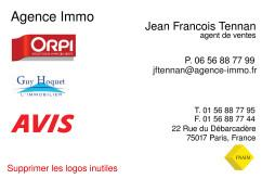 Cartes de visite agence immobilière 1622 - 13