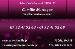 Cartes de visite amincissement 788 - 54