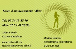 Cartes De Visite Amincissement 778