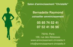 Cartes de visite amincissement 785 - 41
