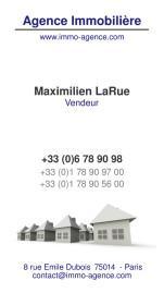 Cartes de visite agence immobilière 1506 - 15