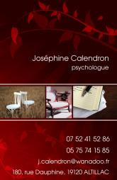 Cartes de visite psychologue 1242 - 25