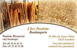 Cartes De Visite Boulangerie Patisserie 1289
