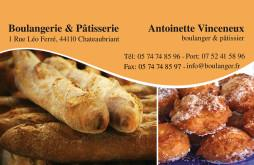 Cartes De Visite Boulangerie Patisserie 1295