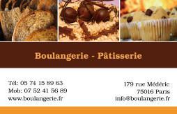 Cartes De Visite Boulangerie Patisserie 1298