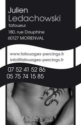 Cartes de visite tatoueur 1013 - 9