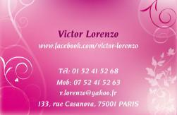 Cartes de visite personnelle 1103 - 468