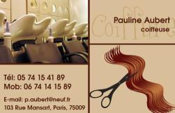 Cartes de visite coiffeur 769 - 52