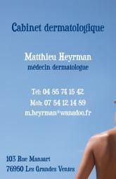 Cartes de visite médecin 1376 - 7