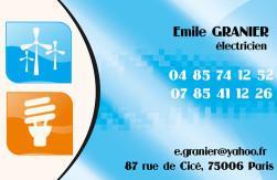 Cartes de visite électricien 714 - 104
