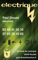 Cartes de visite électricien 717 - 377