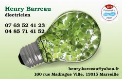 Cartes de visite électricien 726 - 1147
