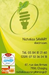 Cartes de visite électricien 731 - 72