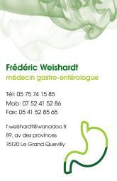 Cartes de visite médecin 1410 - 25