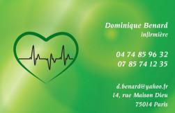 Cartes de visite infirmier 694 - 167