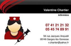 Cartes de visite infirmier 703 - 363