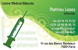 Cartes de visite infirmier 705 - 772