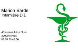 Cartes de visite infirmier 227 - 2154