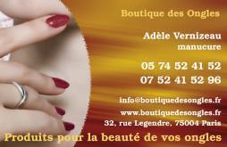 Cartes De Visite Manucure 861