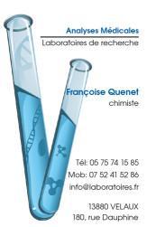 Cartes de visite laboratoire 1182 - 58
