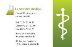Cartes de visite laboratoire 1184 - 170