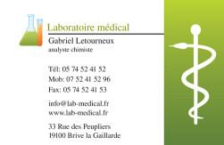 Carte De Visite Laboratoire