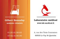 Cartes de visite laboratoire 1185 - 97