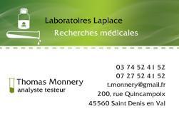 Cartes de visite laboratoire 1186 - 27