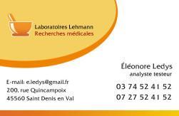 Cartes de visite laboratoire 1187 - 26