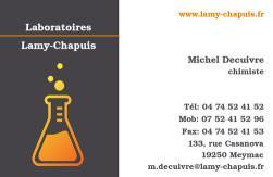 Cartes de visite laboratoire 1188 - 22