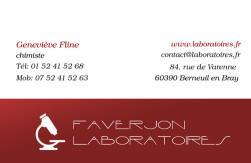 Cartes De Visite Laboratoire 1189