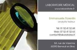 Cartes de visite laboratoire 1191 - 25