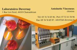 Cartes de visite laboratoire 1192 - 58