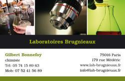 Cartes de visite laboratoire 1194 - 77