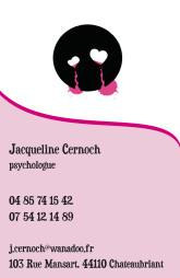 Cartes de visite psychologue 1240 - 10