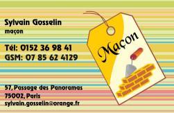 Cartes de visite ma�on 736 - 134