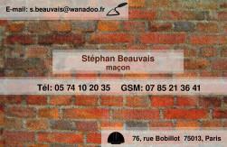 Cartes de visite ma�on 742 - 97