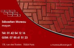 Cartes de visite ma�on 743 - 67