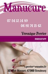 Cartes De Visite Manucure 863