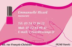 Cartes De Visite Manucure 873