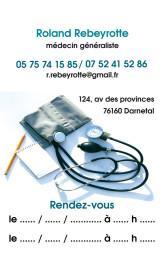 Cartes de visite médecin 1400 - 39