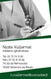 Cartes de visite médecin 1405 - 50