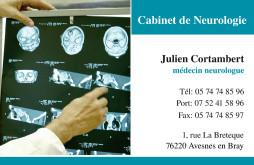Cartes de visite médecin 1335 - 6