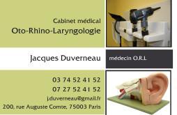 Cartes de visite médecin 1211 - 13