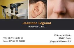 Cartes de visite médecin 1225 - 13