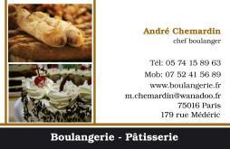 Cartes De Visite Boulangerie Patisserie