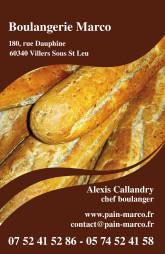 Cartes de visite boulangerie patisserie 1279 - 30