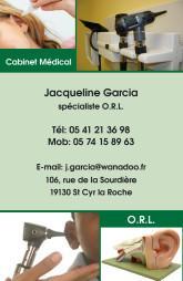 Cartes de visite médecin 1223 - 8