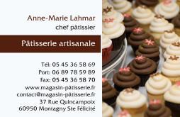 Cartes de visite boulangerie patisserie 1274 - 238